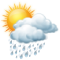 Sunny intervals with heavy rain shower