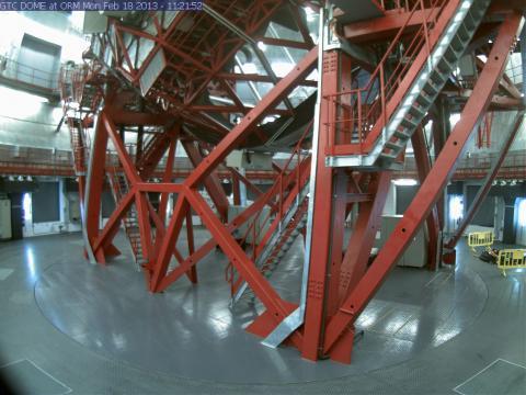 Intérieur de la coupole du Grantecan au Roque de los Muchachos
