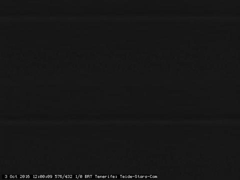 Vue nocturne du Teide