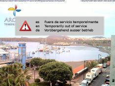Las Galletas beach and harbour